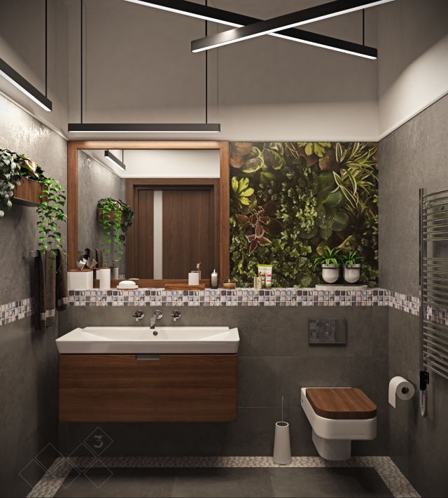 visualization interior design photo 3d bathroom Studiom3